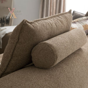 Simple Fabric Sofa with Chaise (1606) pictures & photos