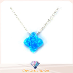 Wholesale Star Gorgeous Design High Quality Top Selling Blue Opal Pendants 925 Silver Fashion Jewelry (N6581) pictures & photos