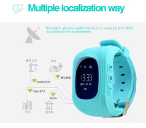 Hot Selling LCD Screen Kids GPS Location Smartwatch pictures & photos