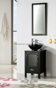 Style Solid Wood Bathroom Vanity Modern Oak Wood Small Bathroom Vanity Cabinet pictures & photos