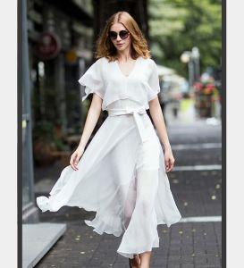 OEM Fashion Clothing Plus Size Elegant Women Chiffon Dress pictures & photos