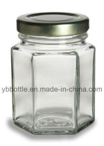 110ml Hexagon Glass Jar