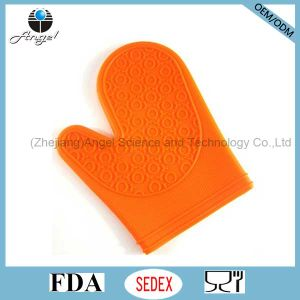 Short Silicone BBQ Glove Silicone Grilling Glove for Holiday Sg06