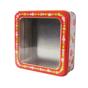 Clear Box Gift Wedding Candy Tin Contanier pictures & photos