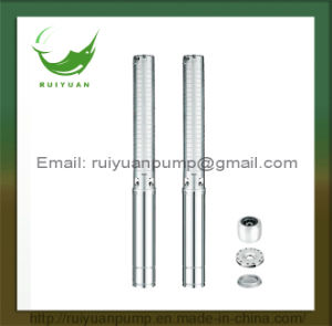 Hot Sale! ! 4 Inches Low Price 0.55kw Copper Wire Multistage Deep Well Submersible Water Pump (4SP3/9-550W) pictures & photos