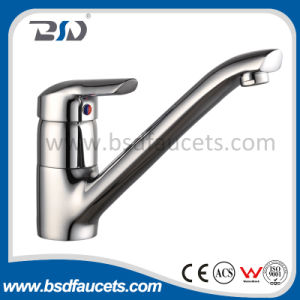 Turnable Spout Single Lever Brass Sink Mixer pictures & photos
