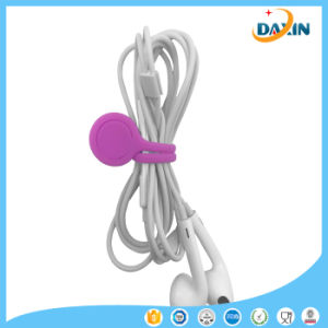 Hot Sale Candy Color Silicone Magnetic Force Cable Winder pictures & photos