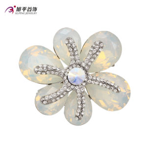 Xuping Fashion Luxury Rhodium Round Crystals From Swarovski Rhinestone Flower-Shaped Jewelry Element Brooch -X0421003 pictures & photos