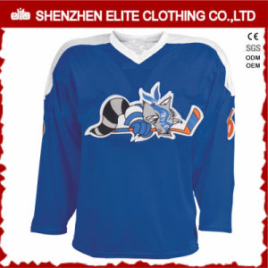 China Wholesale Embroidered Blue Custom Made Hockey Jersey pictures & photos