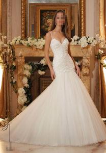 2017 Lace White Bridal Wedding Dresses 5467 pictures & photos