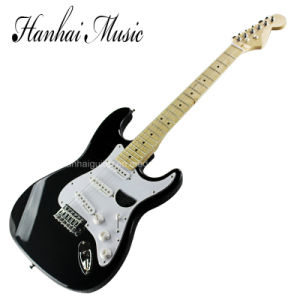 Hanhai Music / Black Electric Guitar with Maple Neck pictures & photos