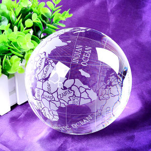 Crystal Globe with Word Map Glass Crystal Tellurion pictures & photos