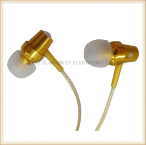 High End Earphone with Golden Color