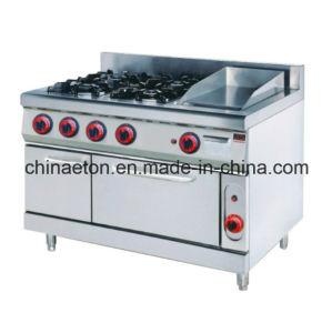 Gas Range with 4-Burner&Griddle &Electric Oven (ET-TT-4) pictures & photos