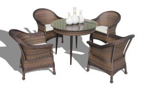 Garden Rattan Outdoor Patio Wicker Dining Set pictures & photos