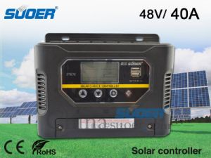 Solar Charge Controller 60V 40A Solar Power Controller PWM Charge Mode Smart Controller for Home Use with CE&RoHS (ST-W6040) pictures & photos
