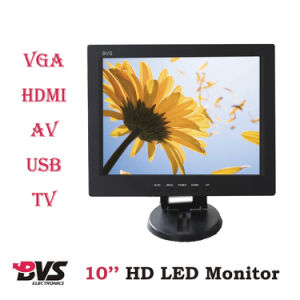 Factory Sale! 10 Inch LCD Monitor HDMI/AV/TV/USB with 4: 3 Wide 800X600 HD Industrial Display