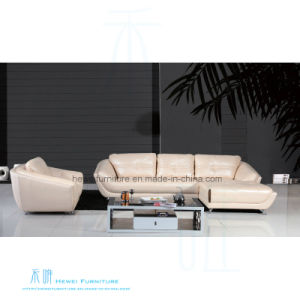 Modern Living Room Coner Leather Sofa for Home (HW-8150S)