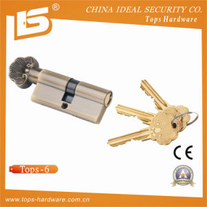 Brass Mortise Door Lock Cylinder (TOPS-6) pictures & photos