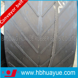 Polyester V Shape Chevron Pattern Rubber Conveyor Belt (B400_B1200) pictures & photos