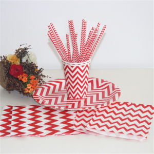 Wholesales Wedding Striped Pattern Party Theme with FDA pictures & photos