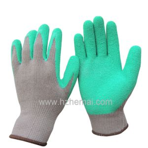 China Cotton Gloves Latex Dipped Garden Gloves Safety Work Glove