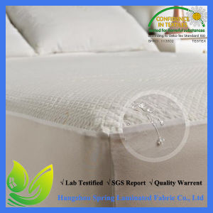 Polyester Jacquard Waterproof Anti-Dust Mite Allergen Free Mattress Protector Plastic Zipper pictures & photos