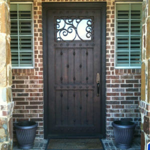 Hand Crafted Decorative Iron Single Door (UID-S007) pictures & photos