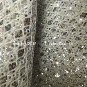 fashion Glitter PU Leather for Shoes pictures & photos