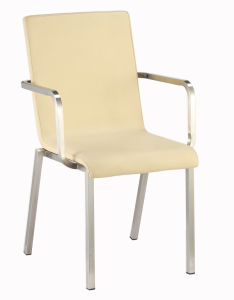 Armrest Stainless Steel Stackable Dining Hotel Restaurant Chair pictures & photos