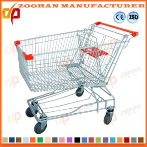 Durable Wire Mesh Metal Supermarket Hand Shopping Trolley Cart (Zht182) pictures & photos