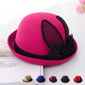 Lady Fashion Imitation Wool Knitted Winter Leisure Bucket Hat (YKY3231) pictures & photos