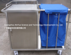 Hopital Furniture Supply Medical Cart Utility Trolley Small 2 Shelf pictures & photos
