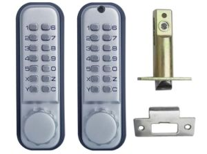 Smart Mechanical Push Button Keyless Code Security Door Lock pictures & photos