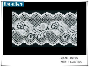 Fabric Elastic Mesh Lace Trimming for Bridal Lace pictures & photos