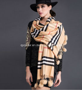 Wool Scarf Bufanda Tassel Shawl pictures & photos