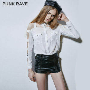 Punk Rave High Quality Cool Motorcycle Leather Short Pants (K-221) pictures & photos