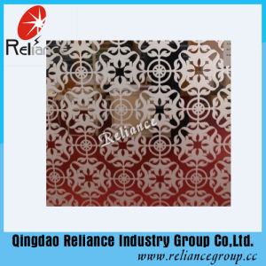 4mm/5mm/6mm Acid Etched Mirror Glass /Designed Mirror /Etched Mirror Glass /Decoarative Glass /Wall Glass / Hotel Decoration Glass pictures & photos
