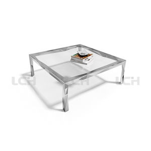 Glass Leisure Coffee Table for Living Room