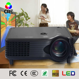 FCC Certificate Mini Home Theatre 1500 Lumens Projector pictures & photos