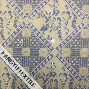 Colorful Square Pattern Nylon Cotton Lace Fabric