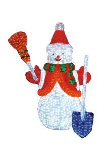 Outdoor Christmas Holiday Decoration LED Solar Bear Motif Acrylic Light pictures & photos