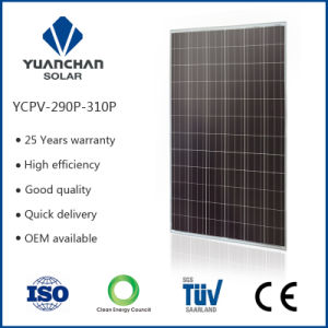 Photovoltaic Solar Panel Adopted by Certificates Tempered Glass Poly 300W pictures & photos
