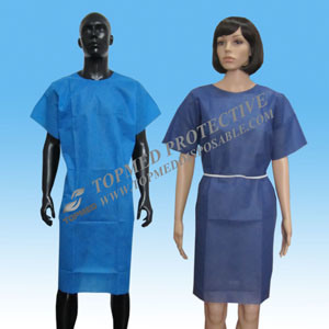 Disposable Patient Gown for Hospital Non-Transparent pictures & photos