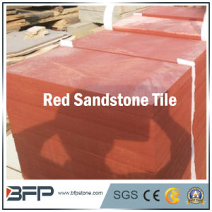 Nature Red Sandstone Floor Tile with Polished/Honed Surface pictures & photos