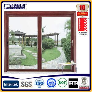 Australia Standard Brown Color Aluminum Profile Sliding Windows pictures & photos
