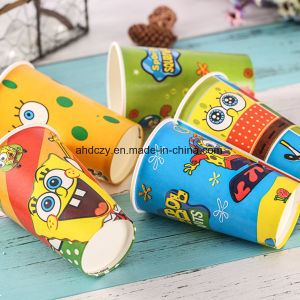 Factory Direct Sale Cheap 7oz Paper Coffee Cups with Cartoon Logo pictures & photos