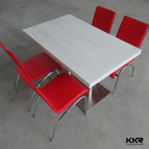 Kkr Factory Modern Artificial Stone Corian Round Dinner Table Top pictures & photos