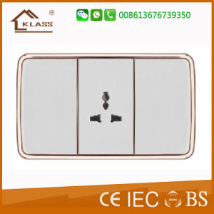 Top Quality 3pin Thailand Electric Socket Made in China pictures & photos