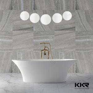 Kingkonree Matt Bath Solid Surface Freestanding Bath Tub pictures & photos